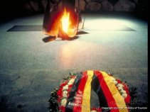 Yad Vashem Holocaust Remembrance Site (West Jerusalem)- eternal flame in the Hall of Remembrance